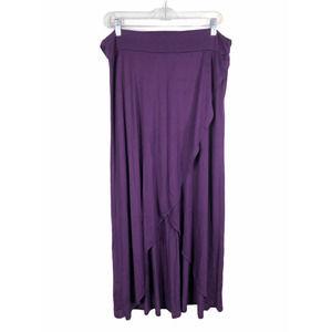 Azules XL Skirt Midi Purple Pull On 516